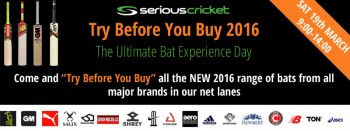 Serious Cricket Try Before You Buy 2016