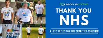 Serious Cricket clubs help raise over £1200 for the NHS
