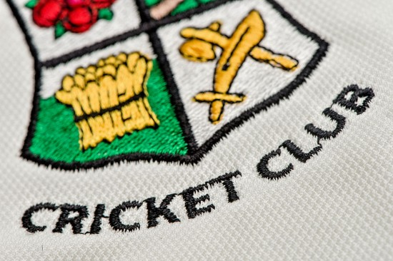 Cricket Teamwear Personalisation Embroidery